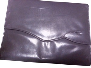 Jasmin Vintage Leather Evening grey Clutch