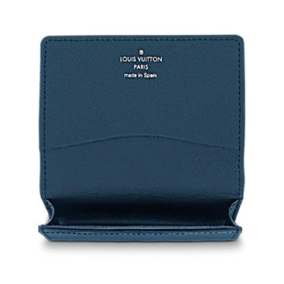 Louis Vuitton Blue Epi Business Card Holder - Tradesy