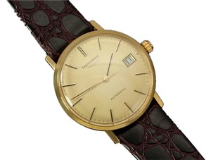Longines Longines Mens Automatic Watch with Quick-Setting Date - 18K Gold Plated & Stainless Steel SS