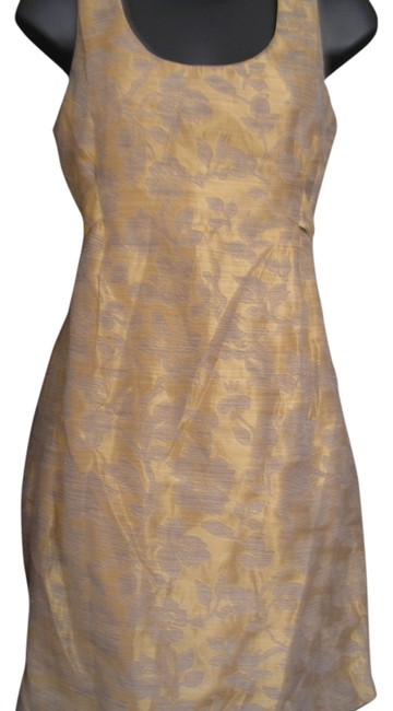 Laundry by Shelli Segal Sleeveless Embroidered Silk Evening Dress