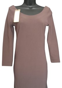 WHYRED short dress wine 3/4 Length Sleeves Body Conscious Bodycon Midi Ribbed on Tradesy