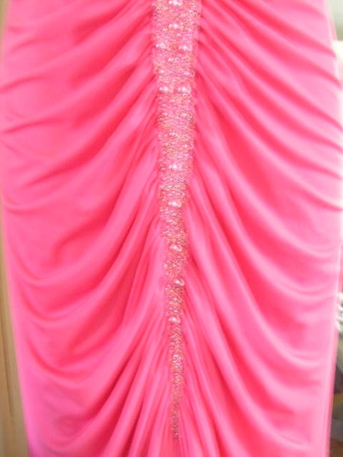 Aidan Mattox Sleeveless Beaded Plunge Mermaid Prom Dress