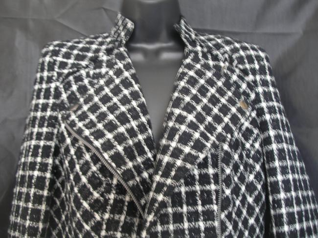 A.B.S. by Allen Schwartz Boucle Biker Structured Motorcycle Jacket