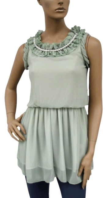 Preload https://item1.tradesy.com/images/green-ruffle-collar-w-pearls-chiffon-sleeveless-fashion-long-blouse-size-16-xl-plus-0x-704015-0-0.jpg?width=400&height=650