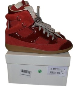 Maison Margiela Suede Patent Leather Red Athletic