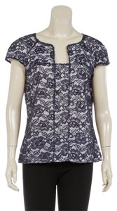 Chanel Lace Floral Top Blue/White