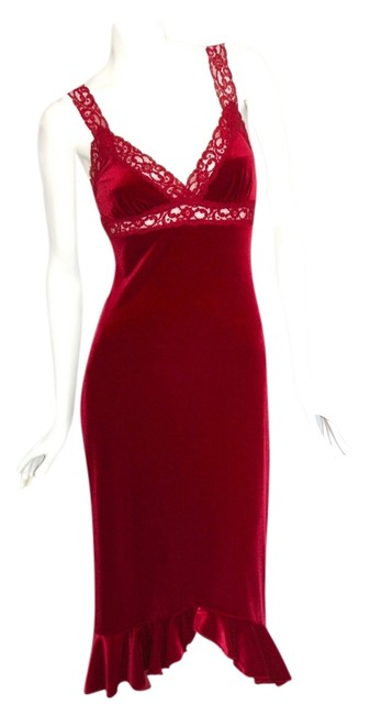 Preload https://item4.tradesy.com/images/betsey-johnson-red-wine-velvet-slip-rare-find-high-low-cocktail-dress-size-petite-4-s-704103-0-0.jpg?width=400&height=650