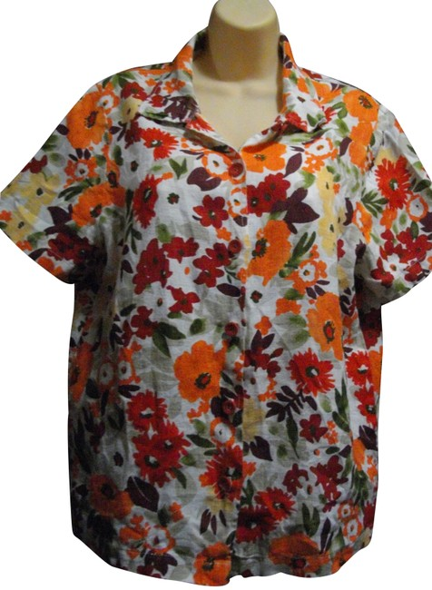 Item - Multicolored Floral Casual Blouse Size 8 (M)