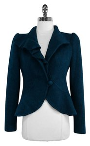 Nanette Lepore Teal Wool Jacket