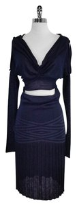 CoSTUME NATIONAL short dress Navy Wool Blend Cutout on Tradesy