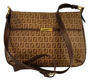 Fendi Zucca Coated Canvas Cross Body Bag