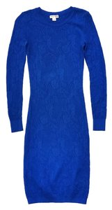 Reiss short dress Blue Bobbina Pointelle on Tradesy