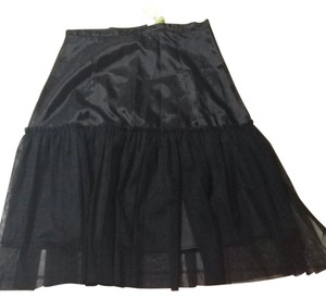Shabby Apple Slip Skirt Black