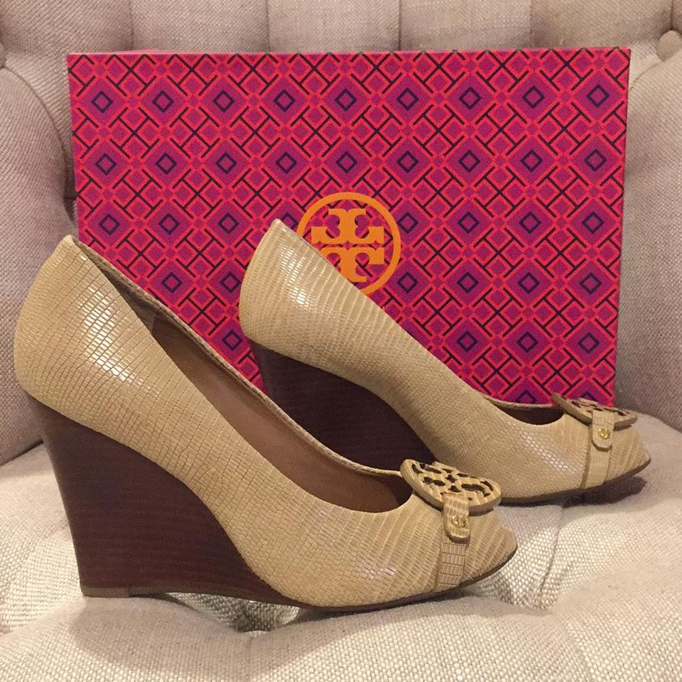 464a67de1ca5 Tory Burch Trench Tan Mini Miller Open-toe 95mm Wedges Size US 5.5 ...