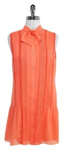 Cynthia Steffe short dress Orange Silk Sleeveless on Tradesy