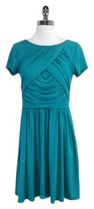 Ellen Tracy short dress Teal Short Sleeve on Tradesy