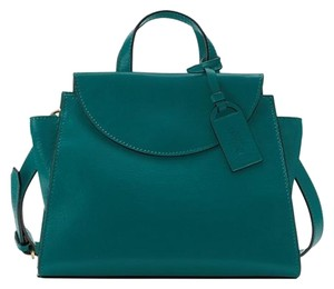 Kate Spade Saturday Leather Satchel in Teal Green
