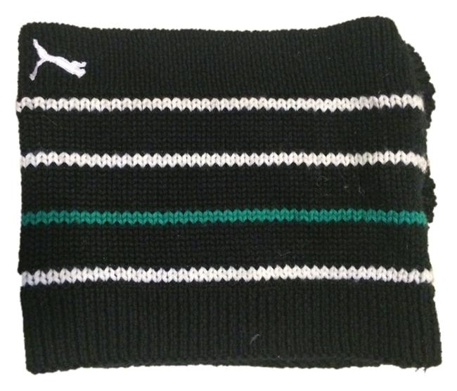Item - Navy with White and Aqua Stripe Knitted Neck Warmer Scarf/Wrap