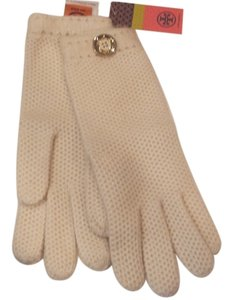 Tory Burch TORY BURCH Ivory Cashmere Stitch Gloves 321355326
