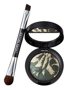 Laura Geller Laura Geller Baked Flambe Eyeshadow Duo with Brush ~ Pistachio Creme NEW in Box