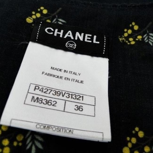 Chanel Cc Logo Crystal Shirt Sheer Suit Jacket Sleeveless Cotton Buttons Top