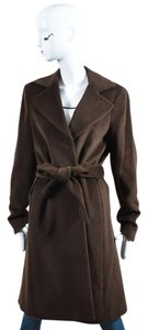 Theory Chestnut Wool & Angora Trench Coat