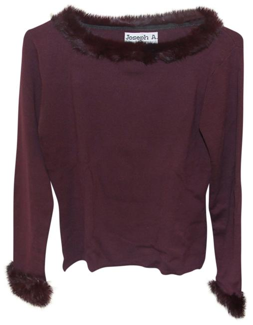 Other Fur Collar Fur Cuffs Top maroon