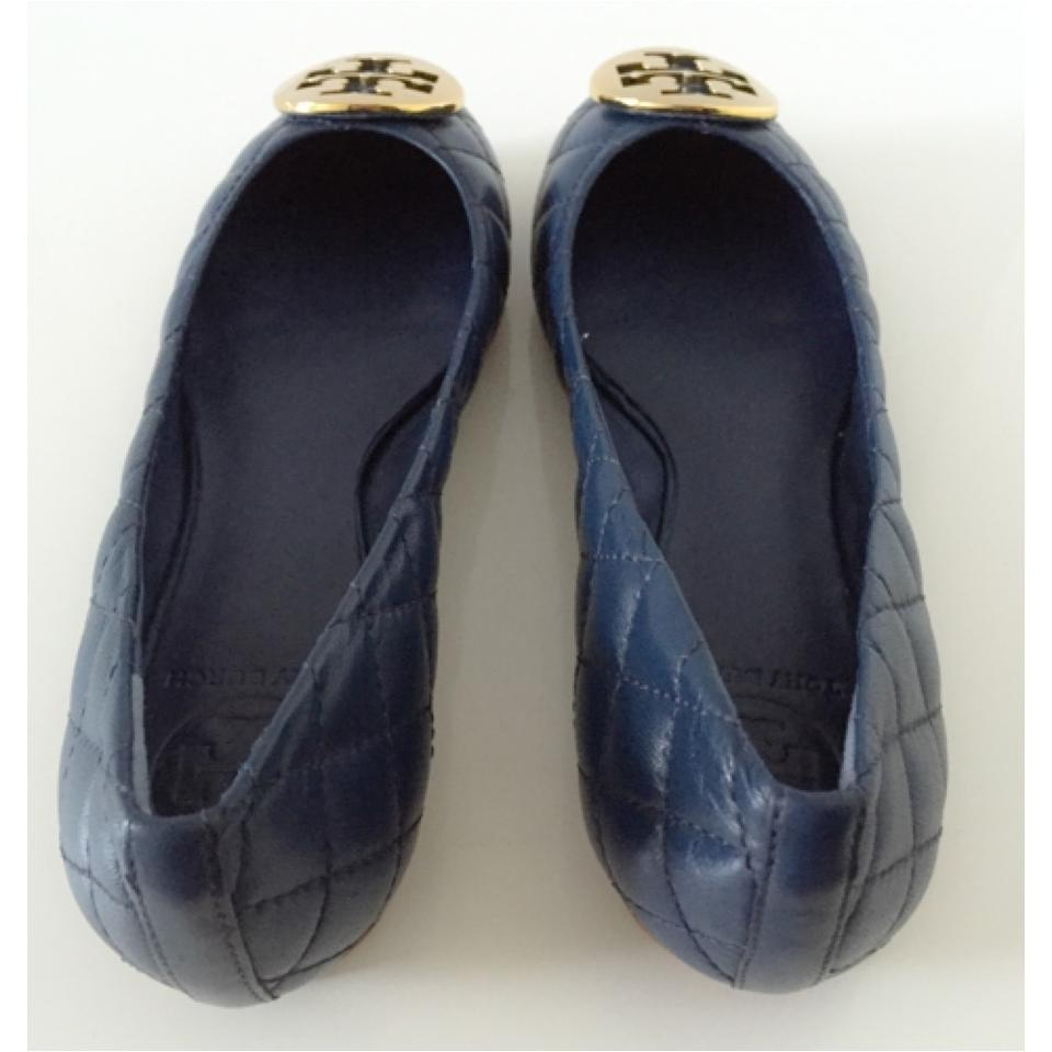 cadf55c0ed1e Tory Burch Quinn Quilted Leather Ballet - Navy Flats Size US 7 Regular (M