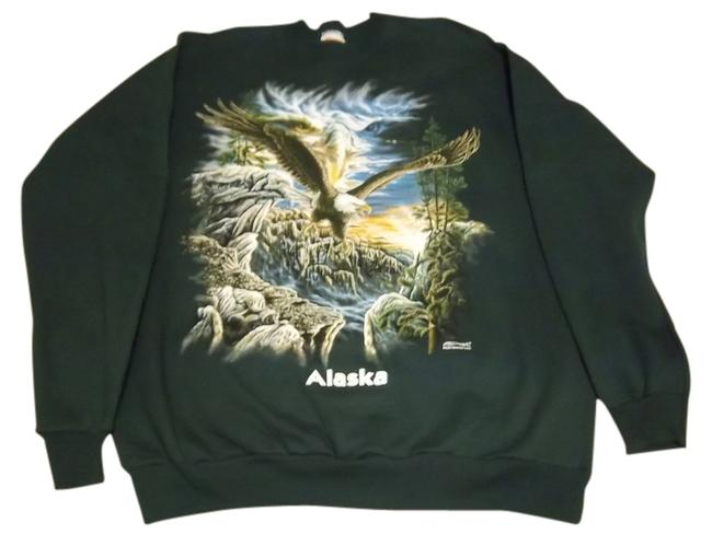 Preload https://item4.tradesy.com/images/green-with-eagle-picture-on-front-sweatshirthoodie-size-14-l-705118-0-0.jpg?width=400&height=650