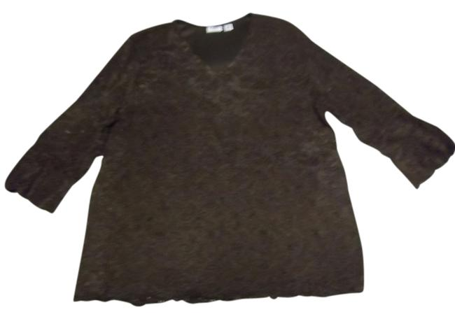 Preload https://item1.tradesy.com/images/cato-dark-brown-blouse-size-14-l-705150-0-0.jpg?width=400&height=650