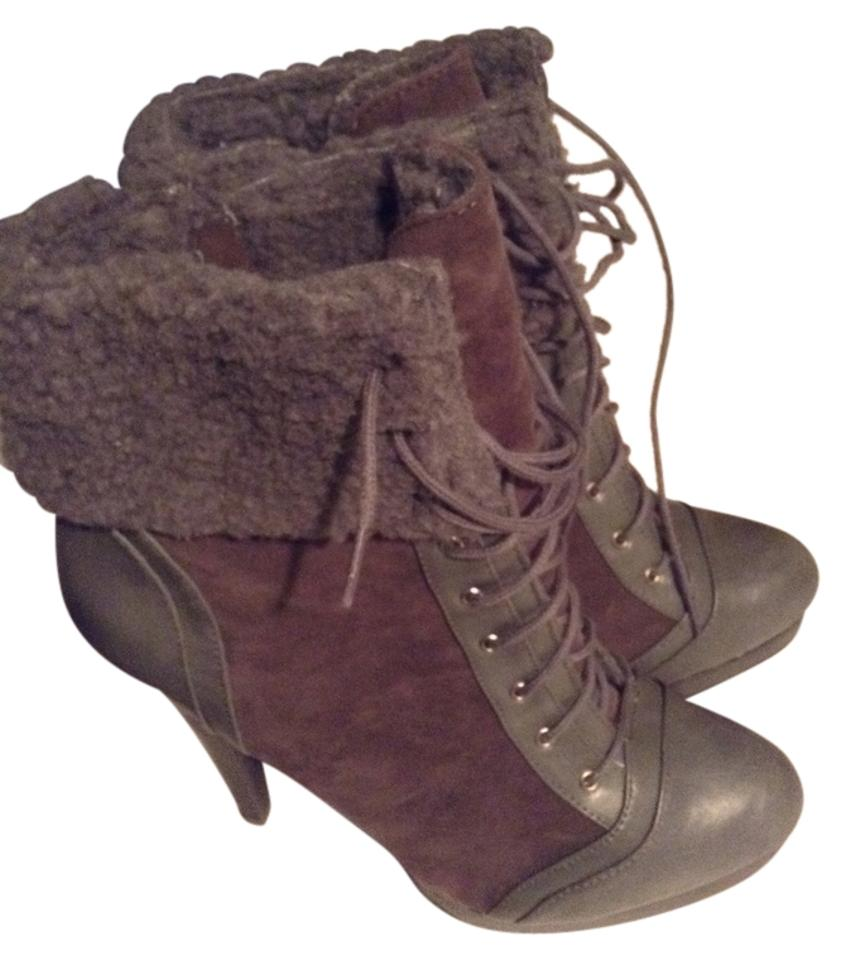 lady JustFab Grey Boots/Booties Dulcinea Boots/Booties Grey special offer 508a8d