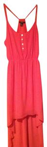 Forever 21 short dress Coral High Low Pink on Tradesy