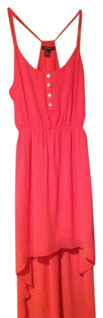 Forever 21 short dress Coral 21 High Low Pink Summer on Tradesy