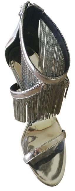 Item - Silver with Sequins and Mirrors. Formal Shoes Size US 8 Regular (M, B)