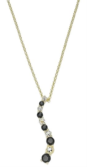 Victoria Townsend LAST ONE-Simulated Midnight Sapphire and White Topaz Pendant