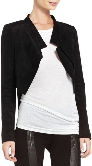 BCBGMAXAZRIA Cropped Black Jacket