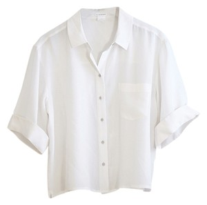 Club Monaco Silk Top Cream