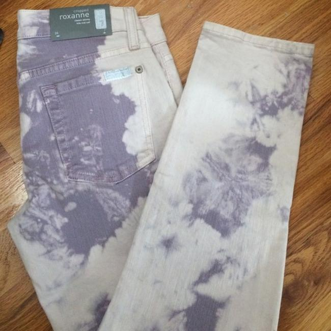 7 For All Mankind Acid Tie Dye Special Light Spring Capri/Cropped Denim-Acid