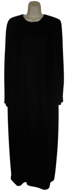 Preload https://item1.tradesy.com/images/black-medium-m-sleeves-velvet-zipper-long-formal-dress-size-8-m-705600-0-0.jpg?width=400&height=650