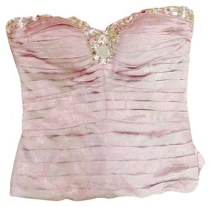 bebe Bustier Jewels Corset Top Taupe