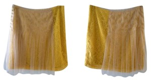 Rodarte for Target Tulle Above Knee Size 9 Skirt mustard yellow