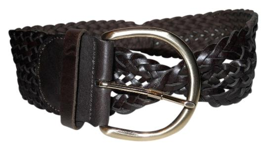 Preload https://img-static.tradesy.com/item/705770/ann-taylor-brown-wide-woven-leather-belt-0-0-540-540.jpg