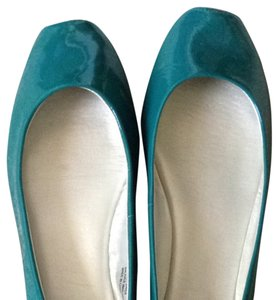 Ruby & Bloom Teal Patent Flats