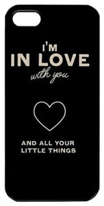 Black I'm In Love With You Hard Skin Plastic Case For iPhone 6 4.7