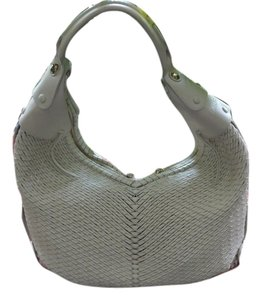Salvatore Ferragamo Woven Leather Tote in Light Beige