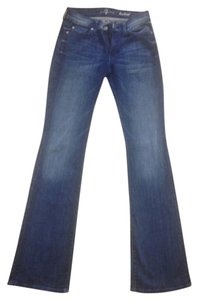 7 For All Mankind 98% Cotton 2% Spandex Boot Cut Jeans-Distressed
