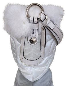 Coach Fur Ski Hobo Satin Shoulder Bag