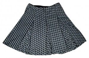 White House | Black Market Skirt black, white and gray