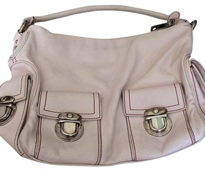 Marc Jacobs Neiman Marcus Blake Rose Quartz pantone of the year color! Blush pink red stitching. Hobo Bag