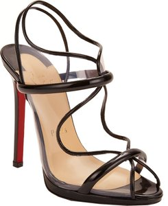 Christian Louboutin Aqua Ronda Patent Leather Transparent 36 Black, Clear Pumps